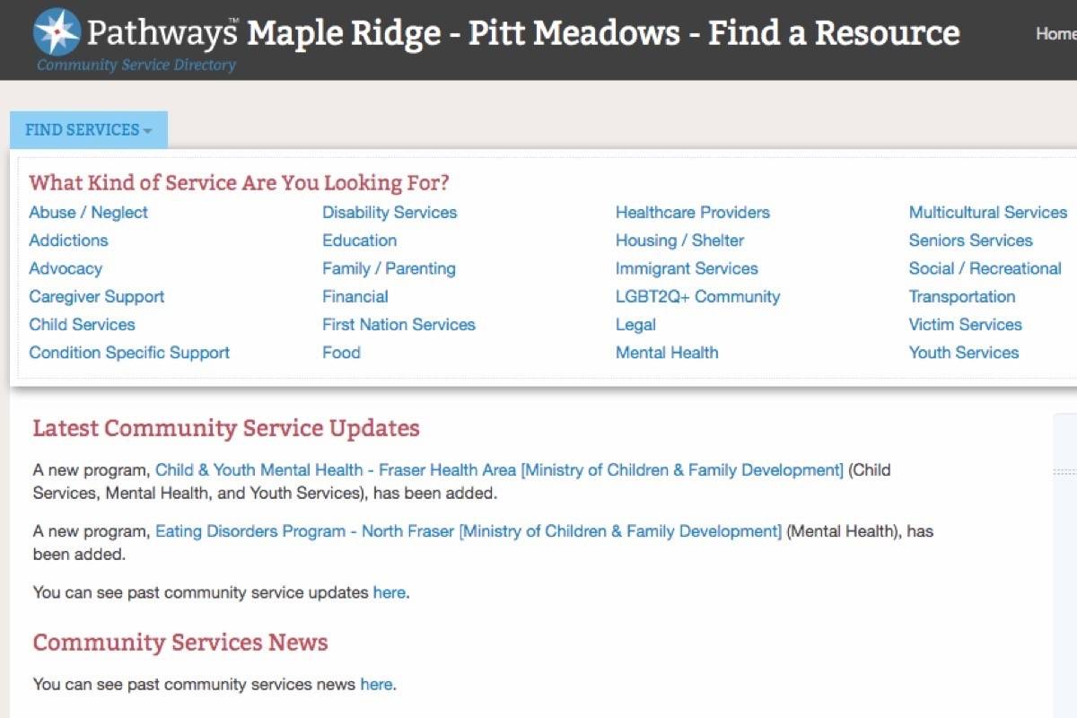 New central online health and social services directory for Ridge Meadows