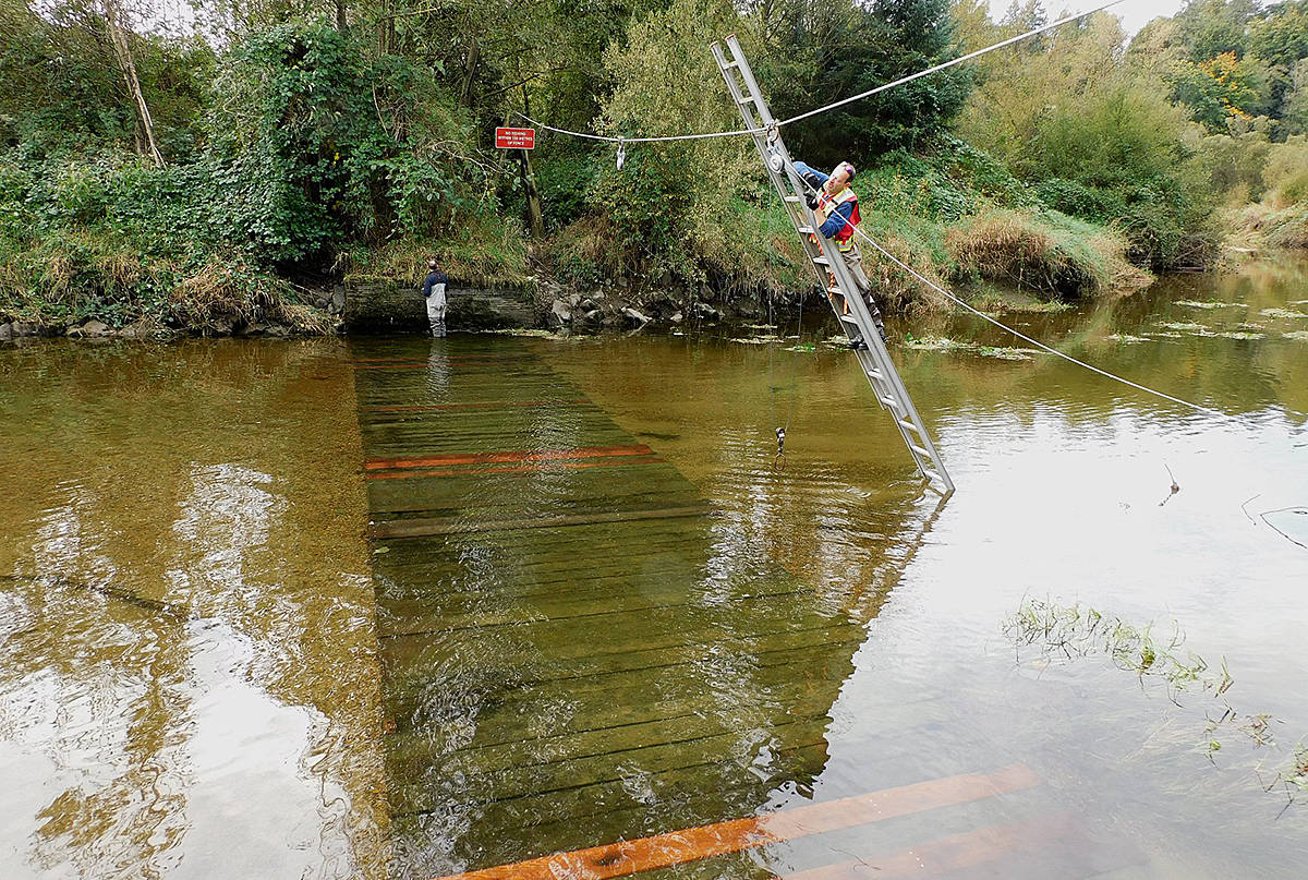 Fish fence marks return of salmon to Kanaka Creek