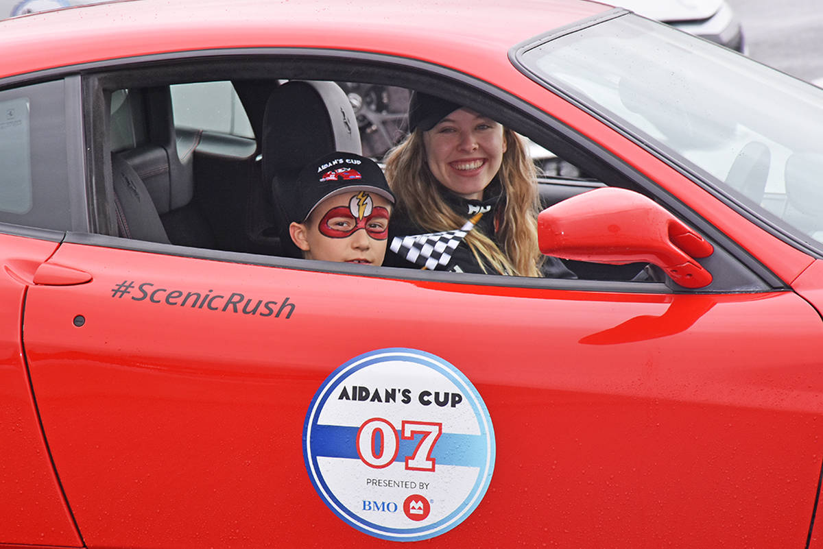 Supercars in Pitt Meadows for Aidan's Cup