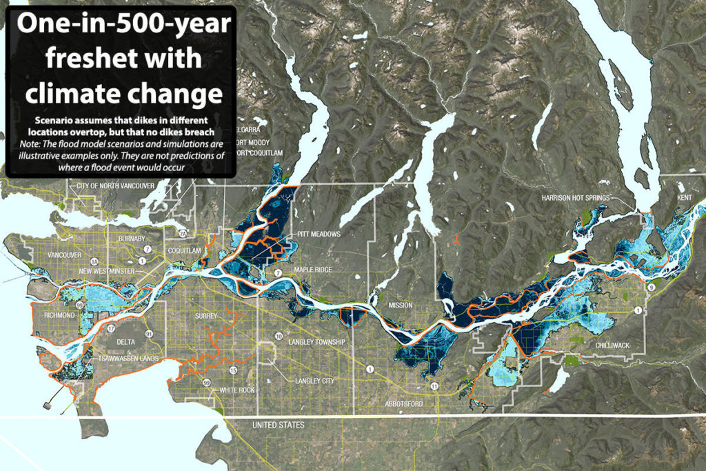 MAP: Climate change to put Pitt Meadows, Richmond and Ladner at risk of major river flood - Maple Ridge News
