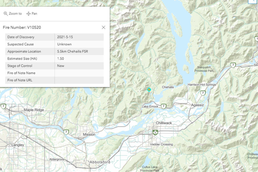 Wildfire near Harrison Mills grows to 3 hectares, BC Fire Service on site - Maple Ridge News