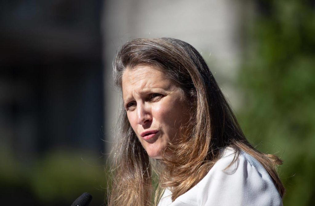 Freeland says Liberals will extend aid programs to October because of uneven rebound - Maple Ridge News