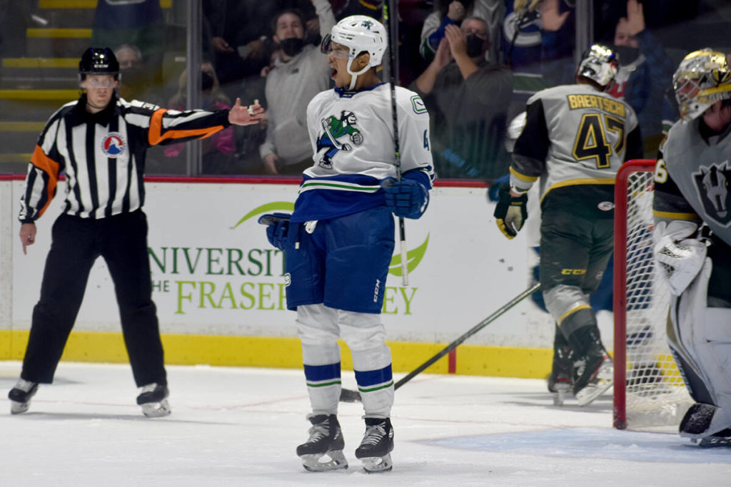 Abbotsford Canucks win first game on home ice - Maple Ridge News